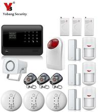 YobangSecurity G90B English Russian Voice GSM Auto Dial Alarm System IOS Android APP Control GSM Wireless WiFi Home Alarm System