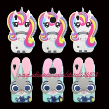 Hot 3D Silicon Unicorn Rabbit Bunny Judy Cartoon Soft Cell Phone Back Skin Case Cover for LG X Power / X Style / X Cam(China)