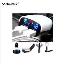 Vpower LED Screen Dual USB Car Charger for iPhone 7 S for table pc Universal Charger 3.4A Cars Voltage Monitoring Display