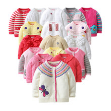 2017 spring autumn Baby Girls Sweater Cardigan Children's Spring Clothing Kids Cotton Cardigan Quality Baby Girl Knitwear