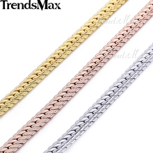 Trendsmax 6MM Gold Filled Snake Chain Mens Necklace Wholesale Dropship Fashion Jewelry GN399