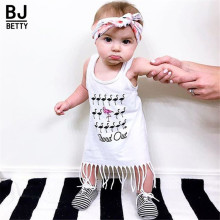 Girls Dress 2017 new arrival summer style children's clothing personality style casual baby dress BBD005