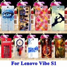 Mobile Phone Cases For Lenovo Vibe S1 S1C50 S1A40 5.0 Cover Housing DreamCatcher Telephone Booth Letters  Shell Hood Rubber Bags