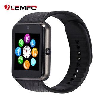 Lemfo gt08 smart watch teléfono sim soporte de tarjeta tf notificador de sincronización para android smart phone