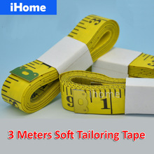 1PC 3M 120Inch PVC Measure Soft Tailor Sewing Dieting Gauge Tape Seamstress Detection Cloth Waistline Ruler Industry Inspection