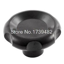 M12 Female Thread 70mm Head Dia Screw On Clamping Knob Grip Black
