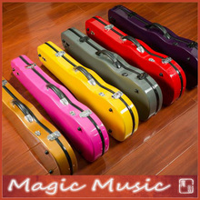 New Colors! High Quality glass fiber violin case size 4/4, lightweight sturdy waterproof, Light Blue Pink Golden Purple Grey