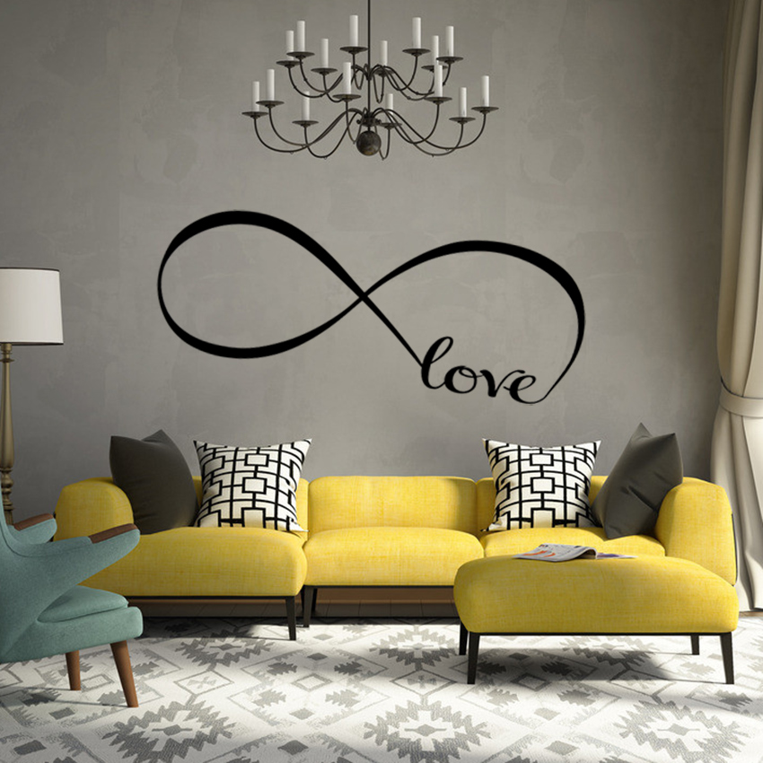 1 Pcs Personalized Bedroom Wall Decals Stickers Vinyl Art Decor Infinity Symbol Word Love