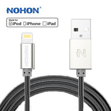 NOHON For Lightning Cable MFI For Apple iPhone 8 7 6S 6 Plus X 5S 5C 5 iPad Mini iPod Touch Nano7 USB Fast Charger Data Cable(China)