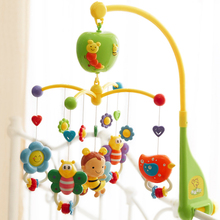 2017 Rotating Children Plastic Crib Toy Baby Musical Mobile Multifunctional musical bed bell Baby Rattle Rotating with Animals