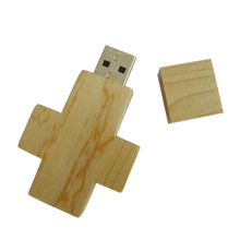 wood Cross USB Flash drive 64GB 32GB 8GB Pen disk memory stick 16GB U disk for china factory