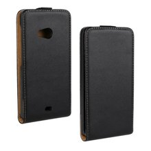 Luxury Genuine Real Leather Case Flip Cover Mobile Phone Accessories Bag Retro Vertical For Nokia Microsoft LUMIA 535 N535 PS(China)