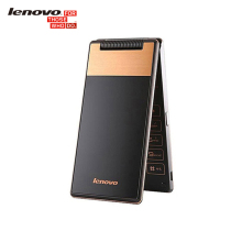 New Original Lenovo A588T Senior Cell Phone Android 4.4 MTK6582 Quad Core 512MB RAM 4G ROM 5MP Camera 360 degree old flip phone(China)