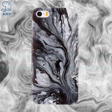 KRY TPU Phone Cases For iphone 5 Case Ultra-thin Simple Silicone Cover For iphone 5s Case SE Cases Marble Texture Capa Coque(China)
