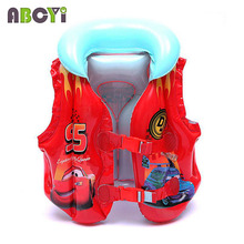 4-8 Years Child Swim Vest Boy Girl Inflatable Life Vest for Fishing Baby Floating Vest Swim Ring Inflatable Flamingo Donut Swan(China)