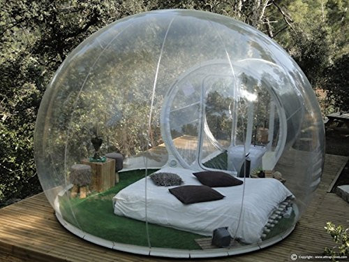 Watch scenery Transparent inflatable lawn bubble tent,bubble camping equipment inflatable beach tent,Inflatable wedding Tent 01