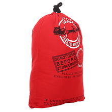 2017 Large size drawstring storage bags factory direct wholesales red color cotton christmas type gift bags with free shipping