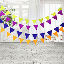Buy 12pcs/set Non-woven Flags Garland Bunting Banners Kids Birthday Wedding Party Decoration Supplies Children Room Banner Decor for $1.05 in AliExpress store