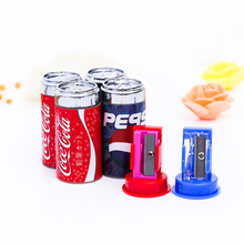 TOMTOSH 1pc Cute Mini Cola Pencil Sharpener With Eraser, Pencil Sharpener Student School Supplies