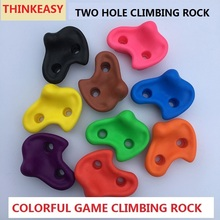 THINKEASY Plastic Rock children Indoor Rock Climbing Wall Kit Rock Stone Kids Toy Sport Hold outdoor game Playground With screw