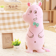 2017 New Style Soft Sheep Plush Toys 60/80CM Wholesale hippopotamus pillow Cushion Soft Sleep Doll(China)