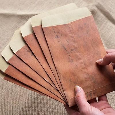vintage wedding envelopes 5x7 envelopes retro brown kraft paper