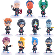 11pcs free shipping Figures Q version Hokage  Car decoration Doll  Naruto Gaara Akatsuki   children toy