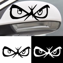 2017 New Rearview Mirrors Animation Eyes Car Sticker Vinyl Laptop Graphics Window Decal Decor auto Scratch Cover Stickers