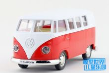 1 PC Alloy model car toys Volkswagen van ran from the small bus two open back to car gifts(China)