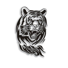 GRS26 60CM Large Size Creative Personality Tiger Stickers Reflective Car Hood Spare Stickers Car Accessories Styling