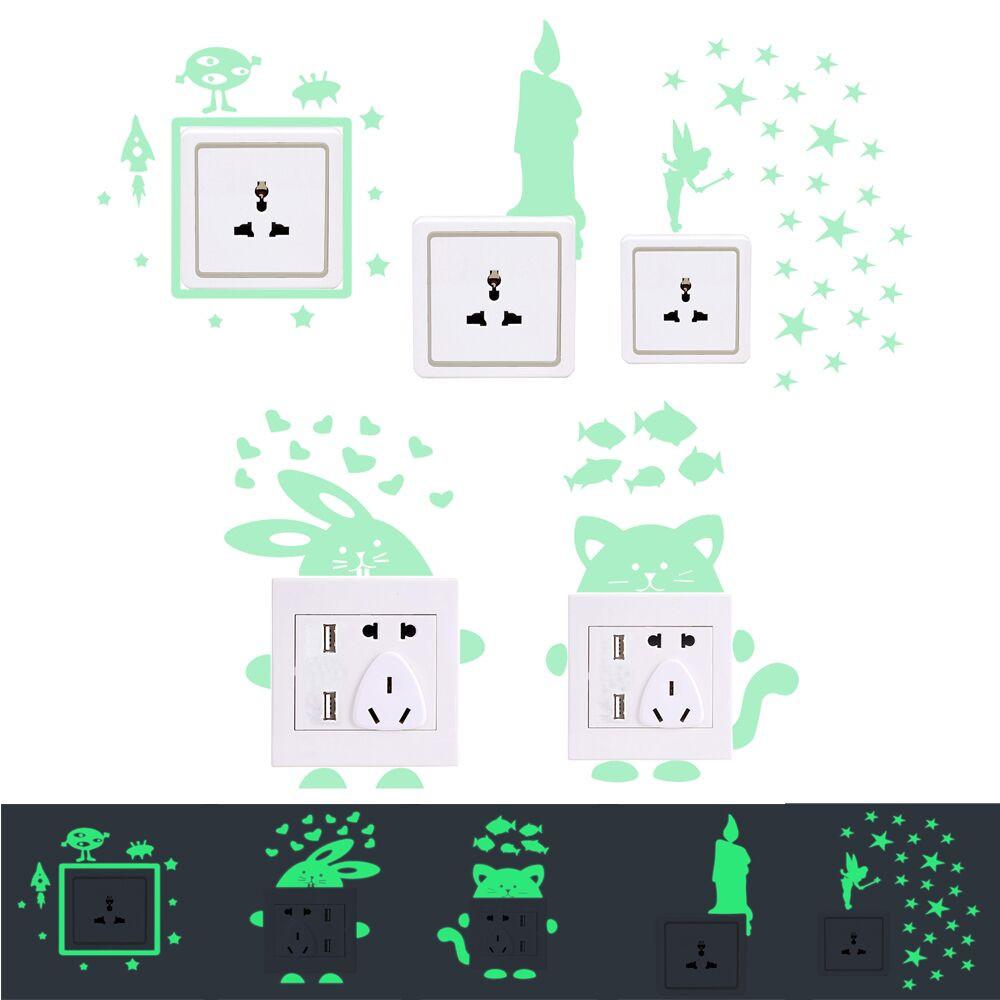 26 Styles Luminous Cartoon Switch Sticker Glow in the Dark Cat Sticker 26 Styles Luminous Cartoon Switch Sticker Glow in the Dark Cat Sticker HTB1xS7ai7fb uJjSsrbq6z6bVXah