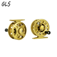 62/68mm sizes 2+1 Ball Bearings Reel winter fishing plastic ice fishing reel Left / right rocker interchangeable Fishing wheel(China)