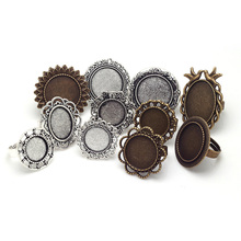 Buy Mixed Adjustable Ring Bases Blanks Cabochon Rings Settings Antique Metal Zinc Alloy Jewelry Ring Setting 11pcs/lot 8054 for $4.91 in AliExpress store