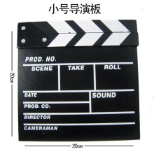 Director Slate Board Plate Photography Props Wooden Decorative Film Slate Blackboard U Board 20*20cm