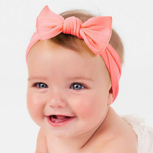 1PCS Newborn Lovely Bow Headband Cotton Bowknot Hairband Turban Knot Headwear For Newborn Kids Hair Accessories