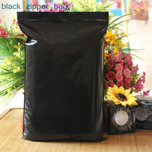 100pcs/lot Black color Self Sealing Plastic Bags,ziplock poly bags zipper bags free shipping(China)