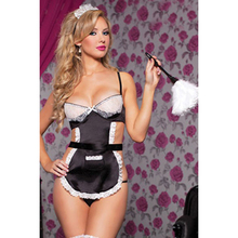 Buy Cosplay Maid Fancy Dress Uniform Underwear Women Sexy Lingerie Halloween Costume French Apron Maid Servant Lolita Costume Dress