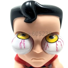1Piece Clark Kent Cute Doll Superman Bulging Eyes Pop Out Eyes Stress Balls Squeezable Toy