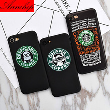 Case Brand NEW Coffee Cup X Stitch Brand Logo Case for iPhone 7, Fashion Phone Cover for iPhone 7 5 5s SE 6 6s Plus 7