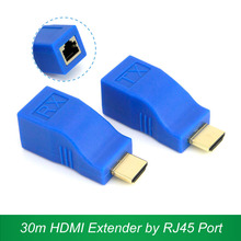 30m HDMI Extender Transmitter TX/RX HDMI V1.4 HD 1080P Over CAT6 RJ45 Ethernet Cable 2017 New for TV Projector DVD(China)