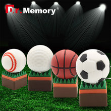 usb flash drive 64g pen drive 32g pendrive 16g 8g 4g Hot Sale golf ball basketball tennis ball pendrive Usb2.0