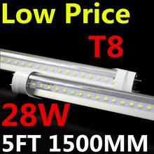 28W t8 led tube 1500mm 2835SMD high luminous flux 25pcs free shipping(China)
