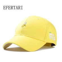 2017 Limited Efertari Fashion Soft Sister Banana Fruit Hat Leisure Shopping Lovers Cap Snapback Baseball Female Spring Caps