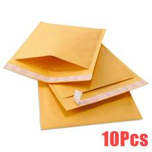 10pcs Kraft Bubble Envelopes Padded Mailer Shipping Mailng Self-Sealing Bags Yellow