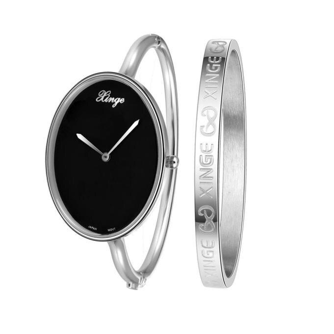 Fantastc 2016 relogio masculino Women D3677SB Silver Rhinestone Bangle Watch And Bracelet Set Quartz Wristwatch Relogio NOV 15<br><br>Aliexpress