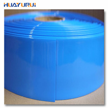 Free shipping 1m long 125mm wide 18650 battery PVC heat shrinkable tube shrink film packaging film Insulating tube Cable Sleeves