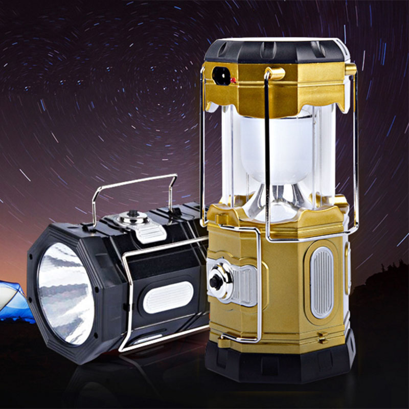 Solar Rechargeable Collapsible Portable Design Brightest Handheld Light Lamp Torch For Tent Hiking Camping Cell Phone Charger<br><br>Aliexpress