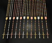 Men Women Catholic Religious Virgin Mary Multicolor Rosary Necklace Jewelry 6mm Prayer Beads