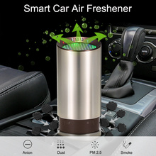 12V Car Air Freshener Ionic Air Purifier Replaceable Activated Carbon Filter Intelligent Air Speed Low Noise
