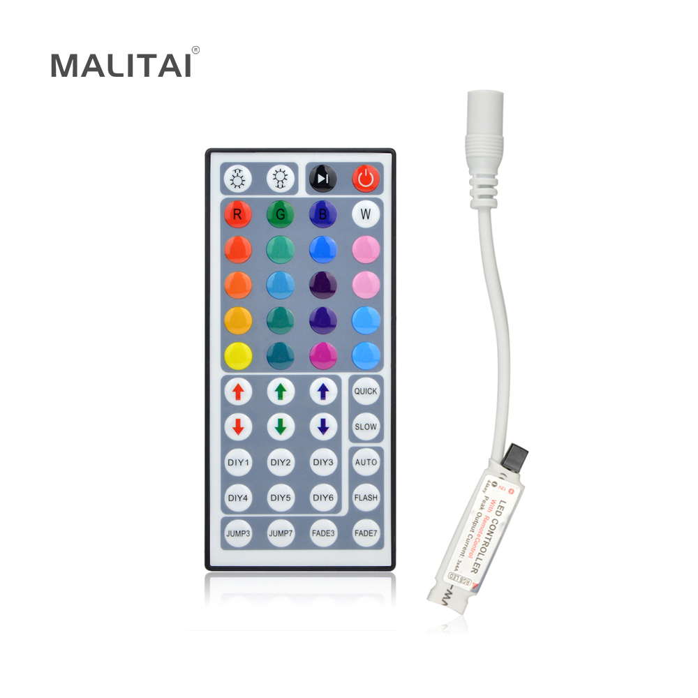 1pcs 12V 44 Keys RGB Colors Dimmer IR Remote Controller for SMD 3528 5050 RGB LED Strip Lights(China (Mainland))